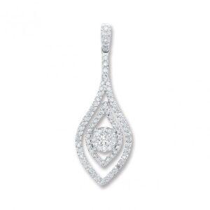 9ct white gold diamond trilogy pendant giorgio jewellersgiorgio 18ct white gold fancy diamond pendant audiocablefo light Images
