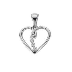 9ct rose gold floating diamond heart pendant giorgio 9ct white gold diamond heart pendant aloadofball Gallery