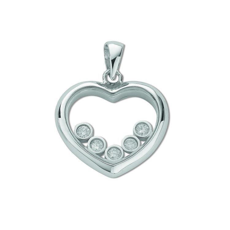 9ct white gold floating diamond heart pendant dpd0151 giorgio 9ct white gold floating diamond heart pendant dpd0151 aloadofball Images