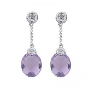 Diamond & Amethyst Earrings