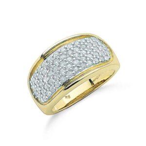 9ct gold diamond bombay ring