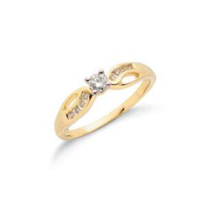 9ct gold diamondfancyring