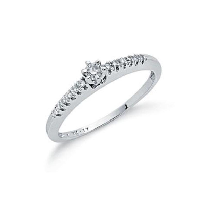 9ct white gold diamonddress ring