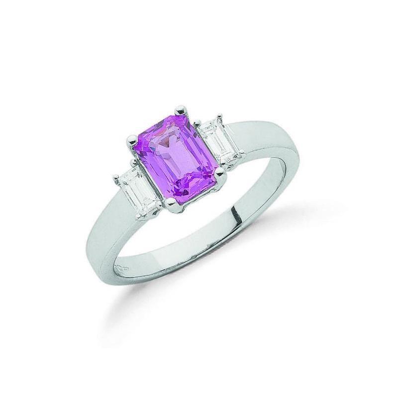 Diamond & Pink Sapphire Rings
