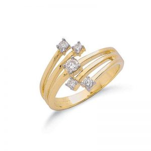 9ct gold fancy diamond dress ring