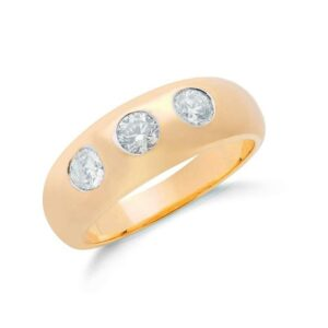 9ct gold 3 stone Diamond ring