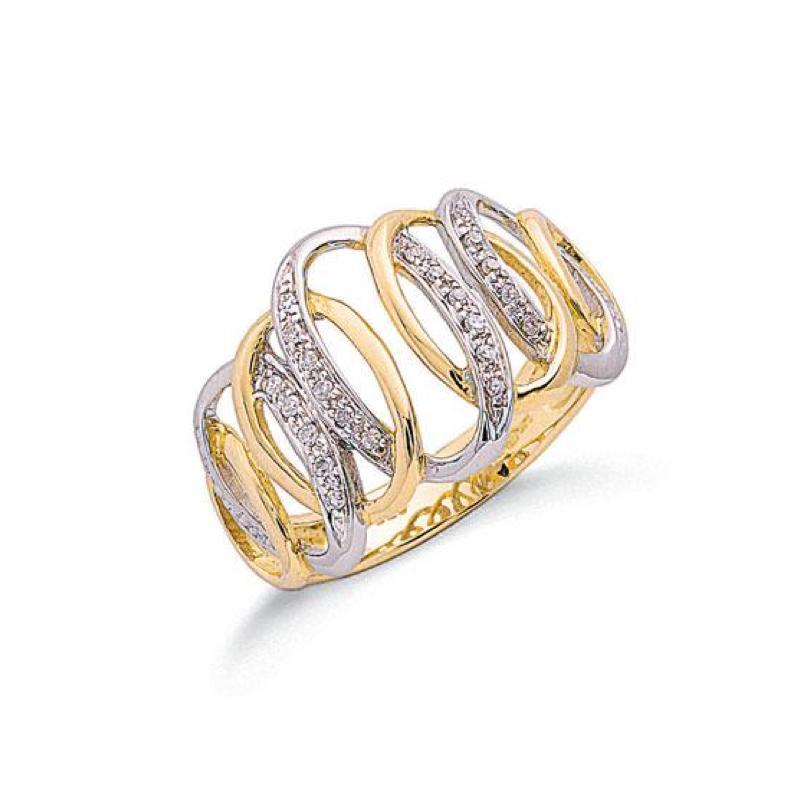9ct gold fancy diamonddress ring