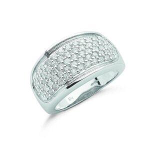9ct white gold diamond bombay ring