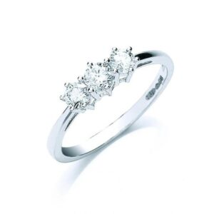 Platinum diamond trilogy ring
