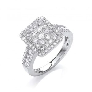 18ct white gold diamond fancy ring