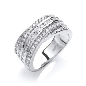 18ct white gold fancy diamond ring