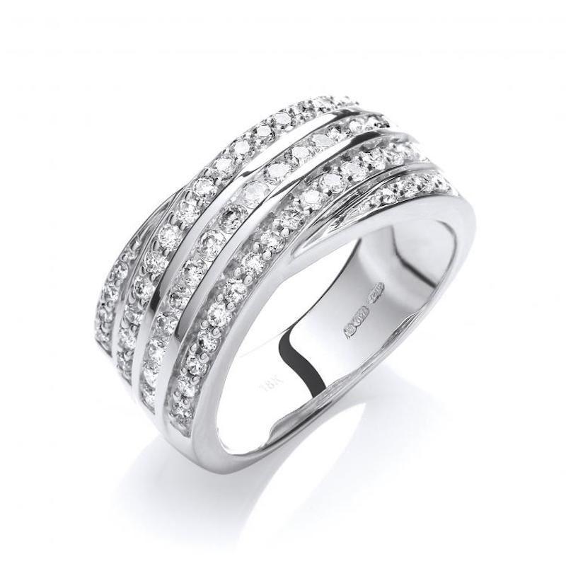 18ct white goldfancydiamond ring