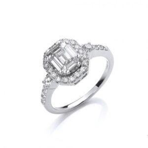 18ct white gold diamonddressring