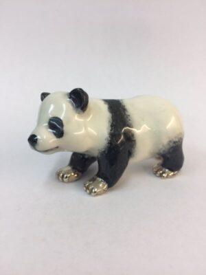 Sterling Silver Enamel Panda By Sorini Argenti
