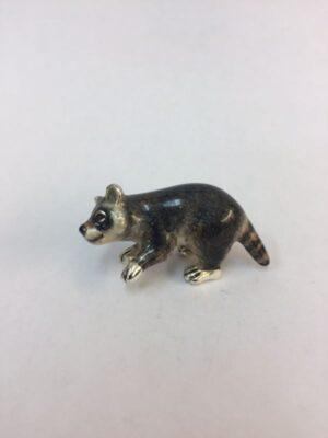 Sterling Silver Enamel Raccoon By Saturno