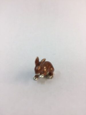 Sterling Silver Enamel Rabbit By Sorini Argenti