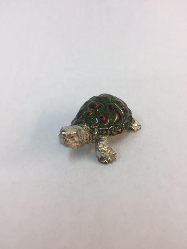 Sterling Silver Enamel Tortoise By Sorini Argenti