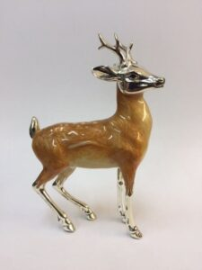 Sterling Silver Enamel Deer by Saturno