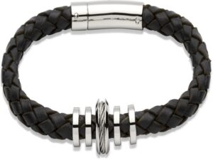 Leather & Stainless Steel Bracelets