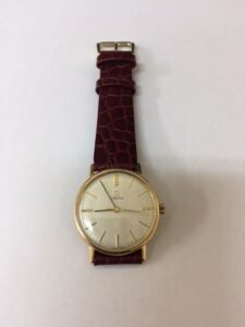 9ct Gold Gents Omega Watch Mechanical Manual
