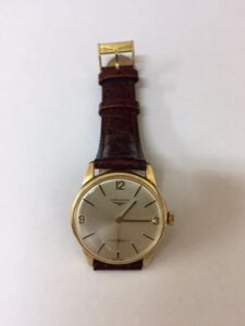 9ct Gold Gents Longines watch mechanical manual