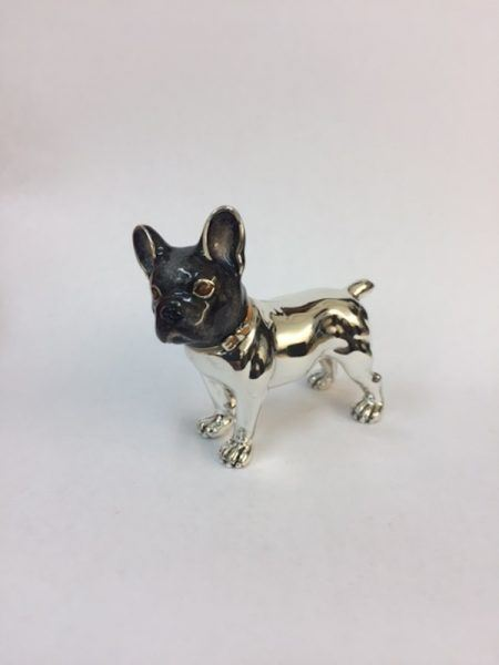 Sterling Silver Enamel French Bulldog By Saturno