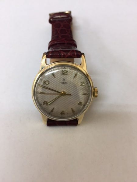 Gents 9ct Gold Vintage Rolex Tudor watch