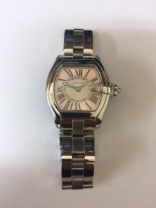 Ladies Cartier Roadster Pink Dial Watch