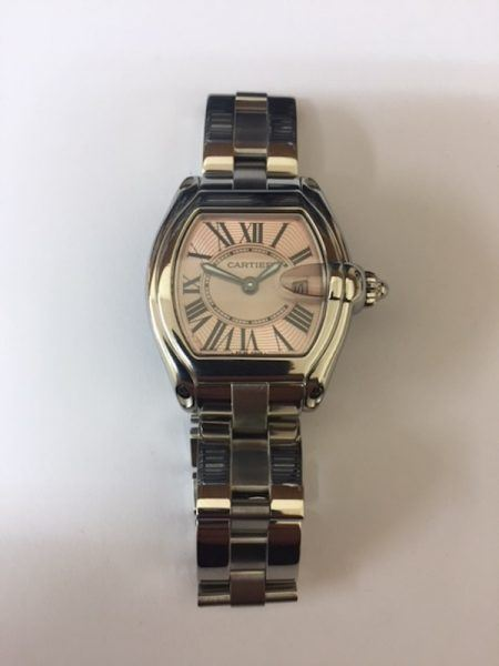 Ladies Cartier Roadster Pink Dial Watch
