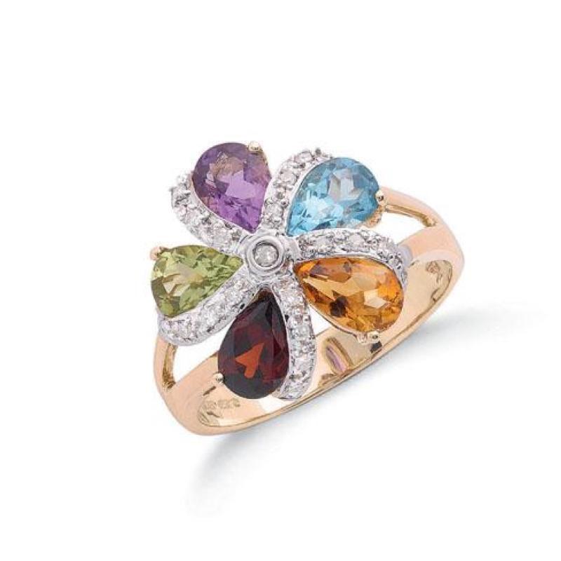 Diamond & Multi Colour Stone Rings