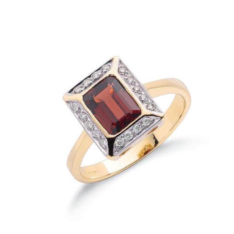 Diamond & Garnet Rings