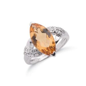 Diamond & Citrine Rings