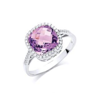 Diamond & Amethyst Rings