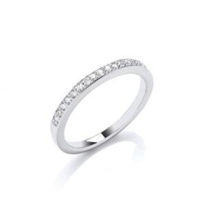 18ct white gold diamond eternity ring